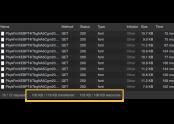 구글 웹폰트 로딩 화면, 한 개의 폰트가 여러개로 분리되어 있다.